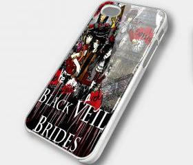 BLACK VEIL BRIDES 3 - iPhone 4 Case, iPhone 4s Case and iPhone 5 case Hard Plastic Case SWX