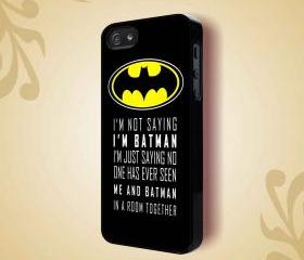 BATMAN LOGO - iPhone 4 Case, iPhone 4s Case and iPhone 5 case Hard Plastic Case HNF