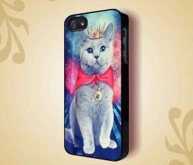 KITTY CAT GALAXY UNIVERSE ANIMAL - iPhone 4 Case, iPhone 4s Case and iPhone 5 case Hard Plastic Case HNF