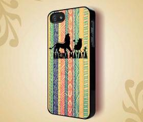 LION KING HAKUNA MATATA DRAW - iPhone 4 Case, iPhone 4s Case and iPhone 5 case Hard Plastic Case HNF