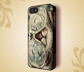SHADES COOL KITTY CAT GLASSES KITTEN - iPhone 4 Case, iPhone 4s Case and iPhone 5 case Hard Plastic Case HNF