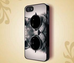 STEAMPUNK KITTY CAT GLASSES KITTEN - iPhone 4 Case, iPhone 4s Case and iPhone 5 case Hard Plastic Case HNF