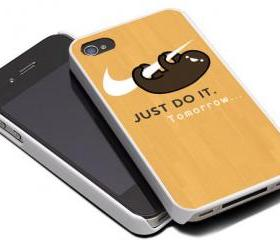 NIKE JUST DO IT LAZY SLOTH - iPhone 4 Case, iPhone 4s Case and iPhone 5 case Hard Plastic Case MSH