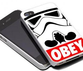 STROMTROOPER STAR WARS OBEY JEDI - iPhone 4 Case, iPhone 4s Case and iPhone 5 case Hard Plastic Case MSH