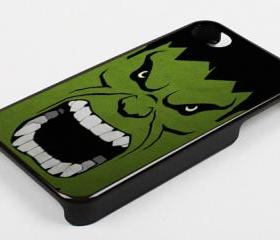 ANGRY HULK FACE - iPhone 4 Case, iPhone 4s Case and iPhone 5 case Hard Plastic Case KK