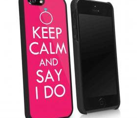 BACHELORRETTE KEEP CALM AND SAY I DO - iPhone 4 Case, iPhone 4s Case and iPhone 5 case Hard Plastic Case KK