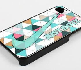 BLUE AZTEC TRIANGLE NIKE - iPhone 4 Case, iPhone 4s Case and iPhone 5 case Hard Plastic Case KK