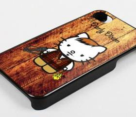 DARLY DIXON KITTY WOOD - iPhone 4 Case, iPhone 4s Case and iPhone 5 case Hard Plastic Case KK