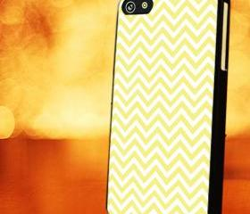 CHEVRON PATTERN WITH YELLOW - iPhone 4 Case, iPhone 4s Case and iPhone 5 case Hard Plastic Case LZN