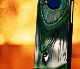 PEACOCK FEATHER SKIN WITH EYE - iPhone 4 Case, iPhone 4s Case and iPhone 5 case Hard Plastic Case LZN