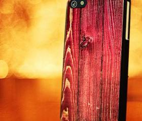 TEXTURE RED WOOD - iPhone 4 Case, iPhone 4s Case and iPhone 5 case Hard Plastic Case LZN