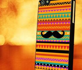 TRIBAL AZTEC WITH TRIBAL MUSTACHE - iPhone 4 Case, iPhone 4s Case and iPhone 5 case Hard Plastic Case LZN