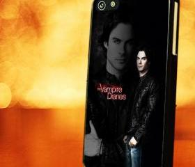 VAMPIRE DIARIES DAMON DAMON - iPhone 4 Case, iPhone 4s Case and iPhone 5 case Hard Plastic Case LZN
