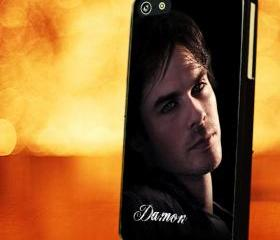 VAMPIRE DIARIES DAMON SKIN - iPhone 4 Case, iPhone 4s Case and iPhone 5 case Hard Plastic Case LZN
