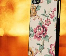 VINTAGE FLOWER PINK CASE ROSE - iPhone 4 Case, iPhone 4s Case and iPhone 5 case Hard Plastic Case LZN