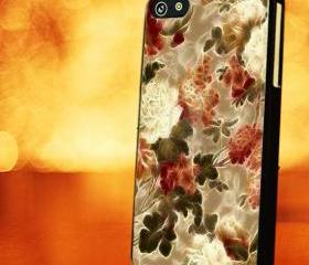 VINTAGE FLOWER WITH GLOW - iPhone 4 Case, iPhone 4s Case and iPhone 5 case Hard Plastic Case LZN