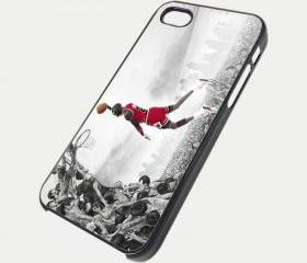 NEW SLAM DUNK MICHAEL JORDAN JUMP MAN AIR - iPhone 4 Case, iPhone 4s Case and iPhone 5 case Hard Plastic Case SWX