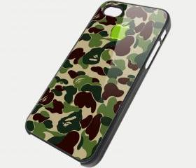 GREEN CAMOUFLAGE - iPhone 4 Case, iPhone 4s Case and iPhone 5 case Hard Plastic Case SWX