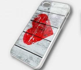 LOVE ON WOOD - iPhone 4 Case, iPhone 4s Case and iPhone 5 case Hard Plastic Case SWX