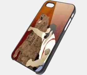 MAN PUNCH BEAR - iPhone 4 Case, iPhone 4s Case and iPhone 5 case Hard Plastic Case SWX