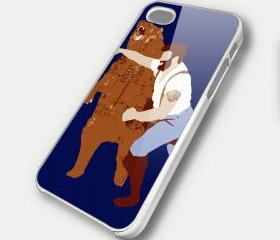 MAN PUNCH BEAR 2 - iPhone 4 Case, iPhone 4s Case and iPhone 5 case Hard Plastic Case SWX