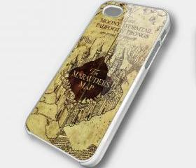 MARAUDERS MAP BROWN - iPhone 4 Case, iPhone 4s Case and iPhone 5 case Hard Plastic Case SWX
