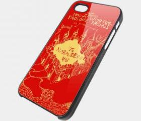 MARAUDERS MAP RED- iPhone 4 Case, iPhone 4s Case and iPhone 5 case Hard Plastic Case SWX