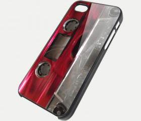 RED CASSETTE - iPhone 4 Case, iPhone 4s Case and iPhone 5 case Hard Plastic Case SWX