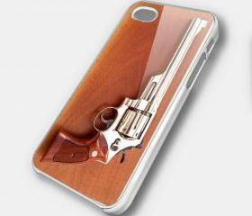 REVOLVER 3 - iPhone 4 Case, iPhone 4s Case and iPhone 5 case Hard Plastic Case SWX