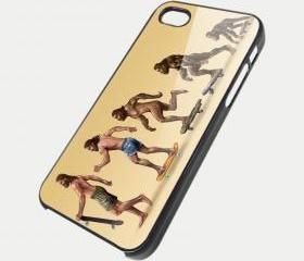 SKATEBOARD EVOLVE - iPhone 4 Case, iPhone 4s Case and iPhone 5 case Hard Plastic Case SWX