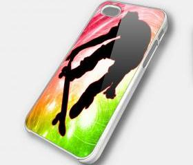 SKATEBOARD RAINBOW - iPhone 4 Case, iPhone 4s Case and iPhone 5 case Hard Plastic Case SWX