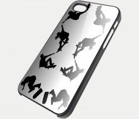 SKATEBOARD SHADOW - iPhone 4 Case, iPhone 4s Case and iPhone 5 case Hard Plastic Case SWX
