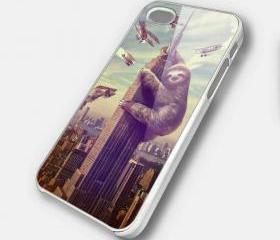 SLOTHZILLA - iPhone 4 Case, iPhone 4s Case and iPhone 5 case Hard Plastic Case SWX