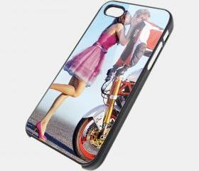 STUNT GUY STOPPIE WITH A KISS - iPhone 4 Case, iPhone 4s Case and iPhone 5 case Hard Plastic Case SWX