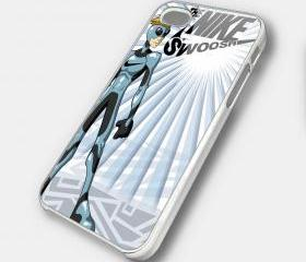 THE NIKE SWOSH - iPhone 4 Case, iPhone 4s Case and iPhone 5 case Hard Plastic Case SWX