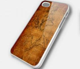 WORLD MAP 1 - iPhone 4 Case, iPhone 4s Case and iPhone 5 case Hard Plastic Case SWX