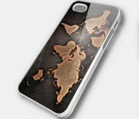 WORLD MAP 2 - iPhone 4 Case, iPhone 4s Case and iPhone 5 case Hard Plastic Case SWX