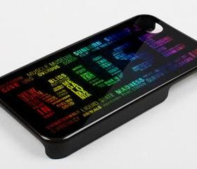 MUSE LOGO RAINBOW - iPhone 4 Case, iPhone 4s Case and iPhone 5 case Hard Plastic Case KK