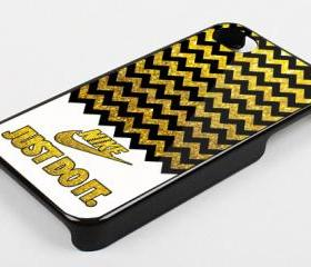 NIKE CHEVRON GOLD - iPhone 4 Case, iPhone 4s Case and iPhone 5 case Hard Plastic Case KK