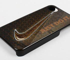 NIKE JUST DO IT BEE PATTERN - iPhone 4 Case, iPhone 4s Case and iPhone 5 case Hard Plastic Case KK