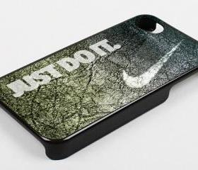 NIKE JUST DO IT STONE PATTERN - iPhone 4 Case, iPhone 4s Case and iPhone 5 case Hard Plastic Case KK