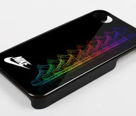 NIKE SHOES RAINBOW - iPhone 4 Case, iPhone 4s Case and iPhone 5 case Hard Plastic Case KK