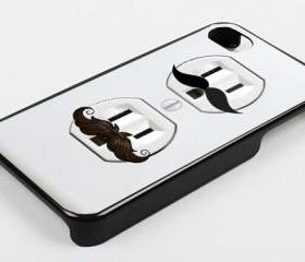OUTLET POWER MUSTACHE - iPhone 4 Case, iPhone 4s Case and iPhone 5 case Hard Plastic Case KK