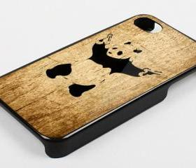 PANDA WITH TWIN GUN - iPhone 4 Case, iPhone 4s Case and iPhone 5 case Hard Plastic Case KK