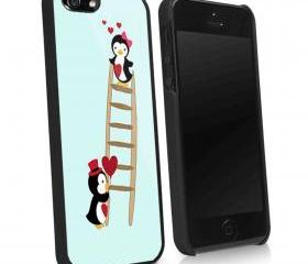 PINGUIN LOVE - iPhone 4 Case, iPhone 4s Case and iPhone 5 case Hard Plastic Case KK