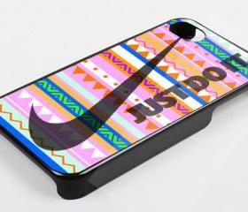 PINK AZTEC JUST DO IT - iPhone 4 Case, iPhone 4s Case and iPhone 5 case Hard Plastic Case KK