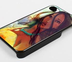 POCAHONTAS - iPhone 4 Case, iPhone 4s Case and iPhone 5 case Hard Plastic Case KK