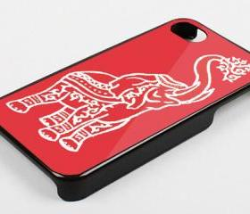 RED ELEPHANT TRIBALL - iPhone 4 Case, iPhone 4s Case and iPhone 5 case Hard Plastic Case KK