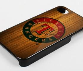 TEXAS RANGERS WOOD BACKGROUND - iPhone 4 Case, iPhone 4s Case and iPhone 5 case Hard Plastic Case KK
