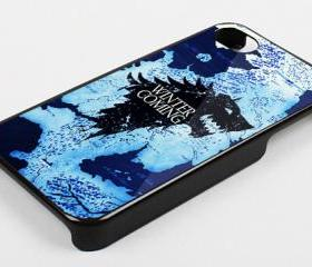 WINTER IS COMING STARK MAP - iPhone 4 Case, iPhone 4s Case and iPhone 5 case Hard Plastic Case KK